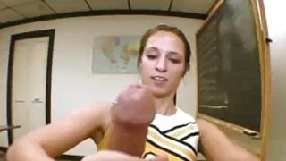 Teen Girl Calls Herself_Resident Handjobber_At Sc image