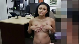 Image: Cute desperate college chick gets fuck for money