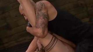Image: Rose Red Tyrell's Asshole is Fucked Rough & Deep in Rope Bondage with BDSM Fun