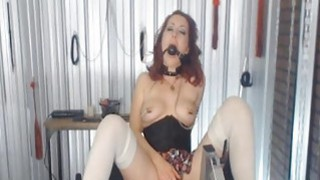 Mistress with Nipple Clamps and Ball Gags Abuses h image