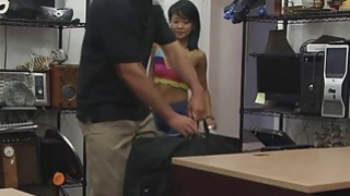 Image: Beautiful Asian babe got naked and got pounded from the back