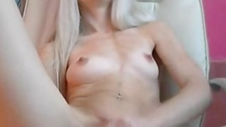Lovelly blondie fingering on chair image