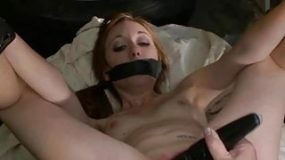 Unfathomable and evil pussy flogging for a whore image