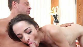 Wife Shares Cock With Hubby and Makes Him Eat Cum image
