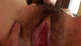 Uncensored Japanese milf with hairy_slit Subtitles image