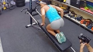 ghetto tiffany Mobile movie ~ Ghetto gym trainer pawns her pussy and drilled by pawn dude image