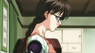 Hentai girl with glasses gets fucked rough image