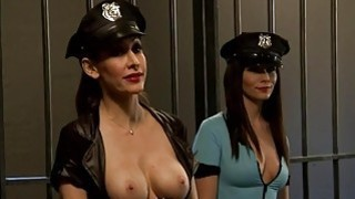 Two luscious_women foursome in jail cell image
