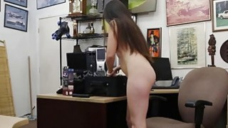 Sexy babe pawns her pussy and pounded by nasty pawn dude image