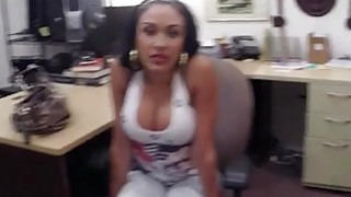 Image: Latin babe pawns her phones and banged by nasty pawn dude