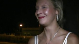 Blonde woman fucked next to the_road image