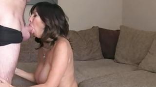 Huge tits Milf anal fucks in casting image