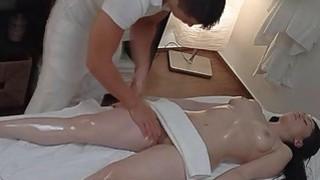 Brunette Teen Experiences Passionate Sex on Massag image