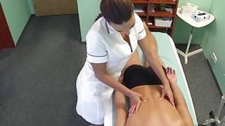 Nurse massages and bangs patient image