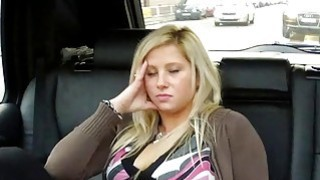 Image: Blonde squirts and fucks in taxi