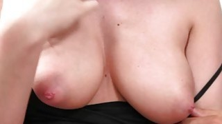 Cute natural boob gal seduced for sex image