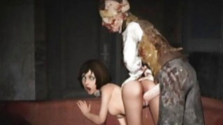 3D Scared Girls Destroyed by Monsters! image