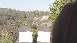 Bigtit sucks cock on big ass terrace image