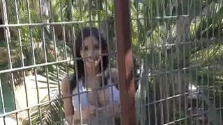 Image: Bigtit sucking in outdoor eagle cage