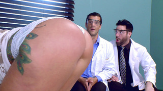 Ryan Conner gets her big ass worshipped by Charles Dera and Ramon image