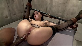 Helpless slutty mom dicked hard anally with black cock image