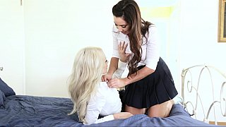 Ridiculous lesbian acts with amazing young nude babes image