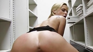 Sexy office babe pounded in pov style image