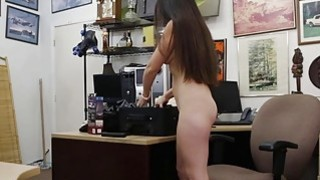 Image: Ex dominatrix sells her stuff and fucked by horny pawn dude