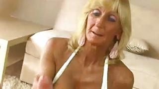 Granny And Stud Recording A Handjob And Titfuck image
