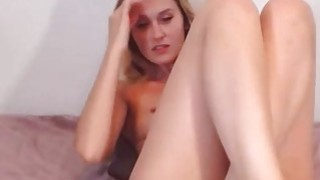 Beautiful Blonde Teen Fingering image