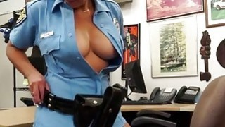 Pretty Police officer who has an amazing ass gets fucked_from behind in the shop image