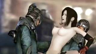 Sexy 3D hentai bitch gets nailed by robots image