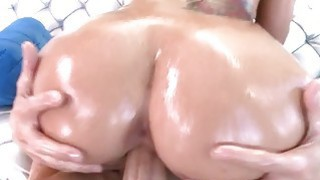 Bubble butt whore throated and pounded image