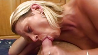 Blonde Stepmom Spreading For Her Horny Stepson image