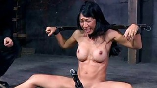 Slave gets arse whipping before pussy torturing image