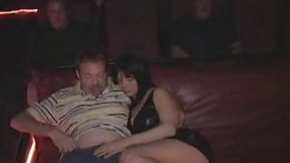 Image: Three hole slut Anna fucks a crowd in the porn movie theater