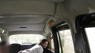 Hot ass brunette anal banged in fake taxi image