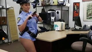 Sexy ass Police woman gets hammered from behind by a huge cock image