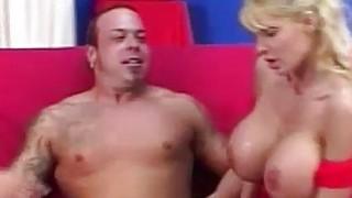 Image: Blonde Licks & Sucks Her Own Nipples