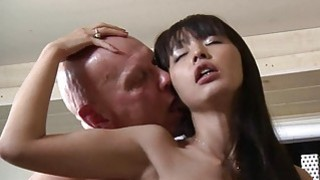 Cute Asian Student Old Teacher Fuck Cum Swallowing image