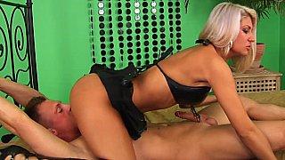Light domination of a blonde mistress image