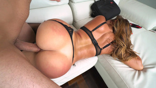 Big ass tart Julianna Vega getting her juicy cunt stuffed with fat cock image