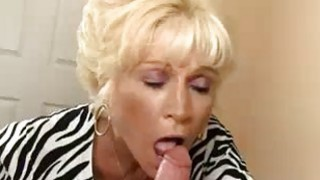 Milf Takes Off His Cloths To Blowjob His Big Cock image