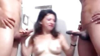 Two Big Dicks vs One Latina image