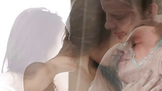 Teeny Lovers - Mouthful of cum after orgasm image