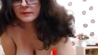 Mature With Big Tits Masturbating image