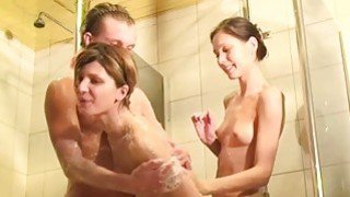 Three_horny_student_sex_friends_in_the_shower image