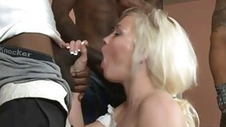 Whitney Grace double fucked by black men and blowjobs image