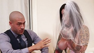 Image: Busty emo in_wedding dress deeply banged