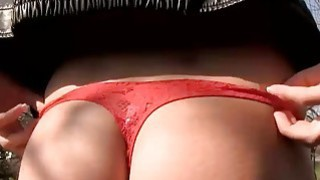 Image: Sexy Eurobabe flashes booty_and_pounded for some money
